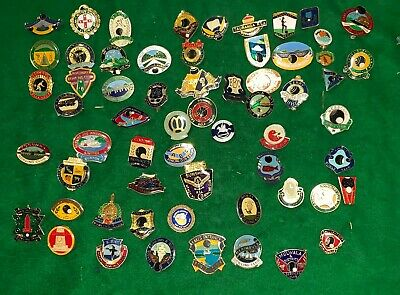 Big Collection Of Old Bowling Club Badges