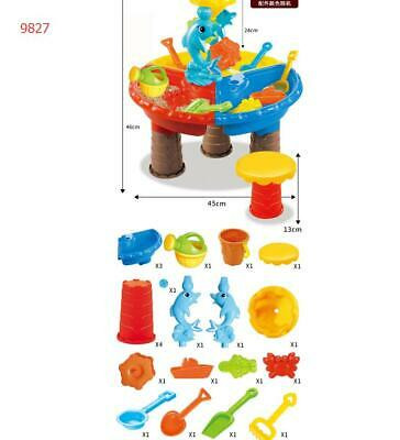 Sturdy Sand&Water Table Watering Can Spade Kids Beach Garden Sandpit Toy Set