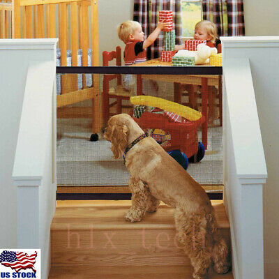 Pet Dog Gate Safety Guard Folding Baby Toddler Stair Gate Isolation USA
