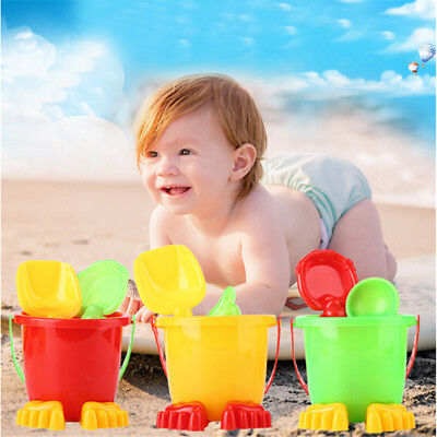4pcs Beach Sand Tools Toys Bucket Set For Toddler Kids Children Outdoor Toy TPI