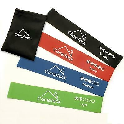 4pc Resistance Loop Exercise Bands Workout Fitness Yoga Crossfit Strength Gym