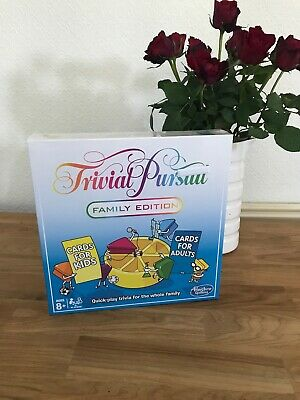 Trivial Pursuit Family Edition Board Game Hasbro. Cards For Kids & Adults - BNIB