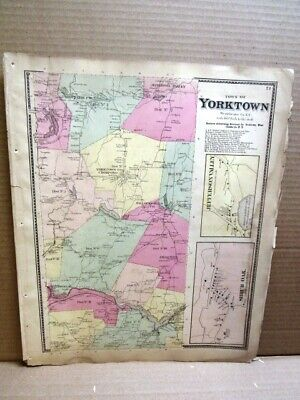1867 Tn Yorktown Shrub Oak Jeff Valley Maps Westchester County Ny  Beers Atlas