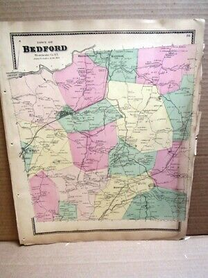 1867 Town Bedford  Map Westchester County, Ny  Beers Atlas