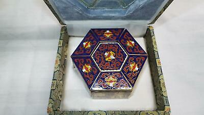 Peking Jewelry Chinese Cloisonné Jewelry Box with Compartments (100)