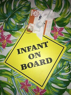 Infant On Board Travel Sign With Easy Grip Suction Cup