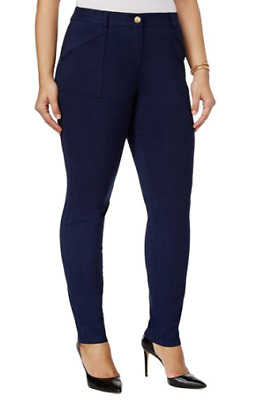 Style & Co. Womens Plus Mid Rise Skinny Pants, Industrial Blue 24W 42.00