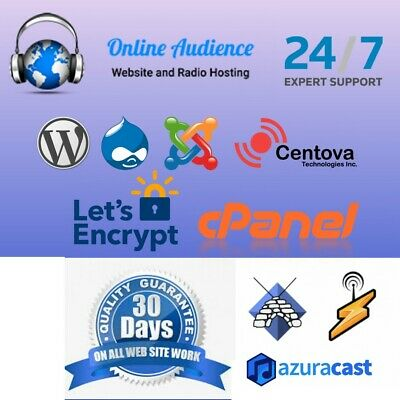 ShoutCast or Icecast Unlimited Hosting Account 1 Month
