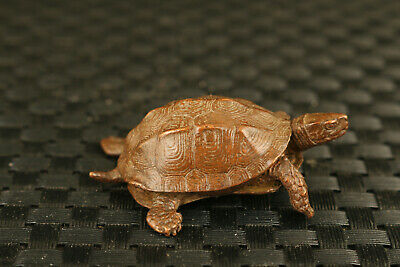 chinese Red copper bronze hand cast tortoise statue netsuke collection