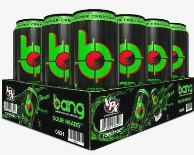 Bang Vpx Energy Drinks 12 Pack Flavors Sour Heads - Free shipping