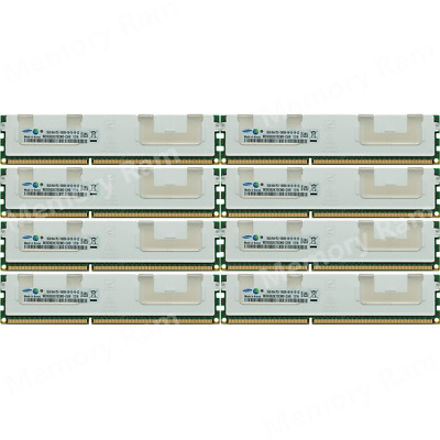 Samsung 128GB (8X16GB) PC3-10600R 4RX4 DDR3-1333Mhz 240Pin REG Server Memory @7