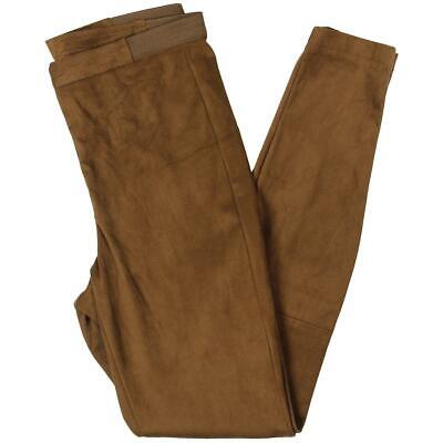 BB Dakota Womens Tan Faux Suede High Waist Pants Leggings XS BHFO 9909