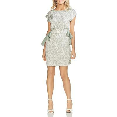 Vince Camuto Womens Ethereal Dawn Green Crepe Floral Party Dress 12 BHFO 2989