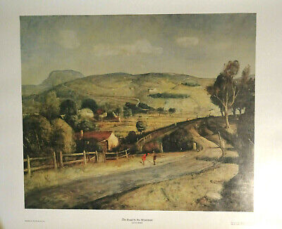 Large Quality Aust. Print LLOYD REES 'THE ROAD TO THE MOUNTAIN' 101cm x 69cm