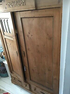 Antique Pine Armoire/wardrobe