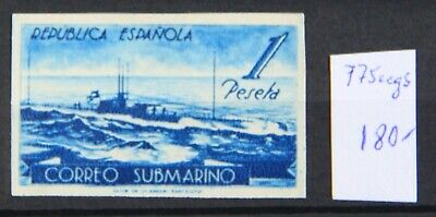 Submarino. Color cambiado sin dentar . Edifil 775ccgs