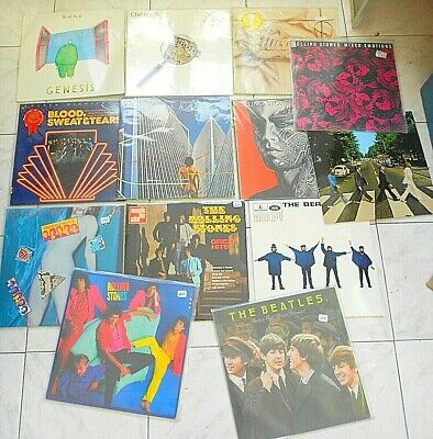 Lot Lp 33 T Beatles Yes Rolling Stones Chicago Tbe + Neuf