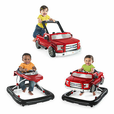 3 Ways To Play Ford F150 Baby Walker, Red