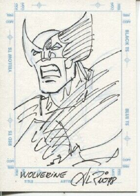 1998 Marvel Creators Collection Mcc 98 Sketchagraph Wolverine - Al Rio