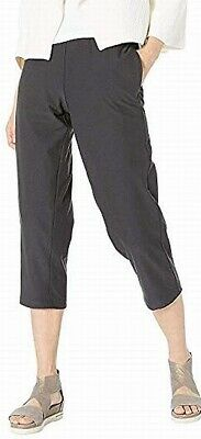 Eileen Fisher Women's Gray Size Large L Cropped Pull On Pants Stretch $139 #165