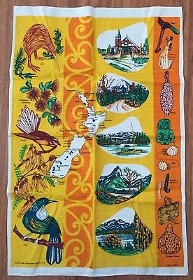 Vintage 1970'S Linen Tea Towel Kitchen Brand New Old Stock