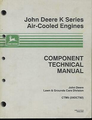 John Deere K Series Air Cooled Engines Component Technical Manual