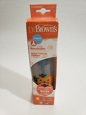 Dr Brown's Natural Flow 8oz Standard Special Edition Halloween Baby Bottle NEW