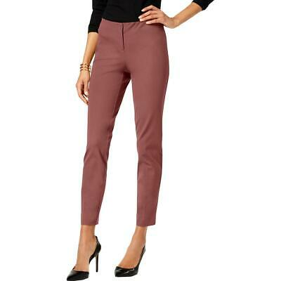 Alfani Womens Pink Skinny Ankle Office Wear Dress Pants Trousers 16 BHFO 7542