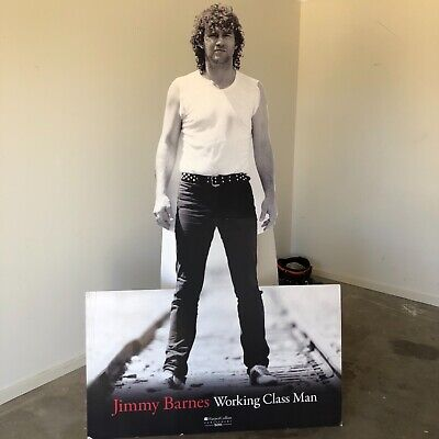 Jimmy Barnes, stand up cut out - working class man