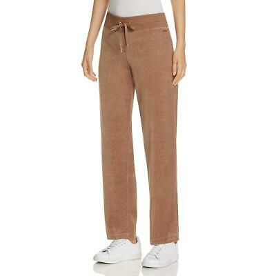 Calvin Klein Womens Taupe Pull On Athleisure Casual Velour Pants S BHFO 6849