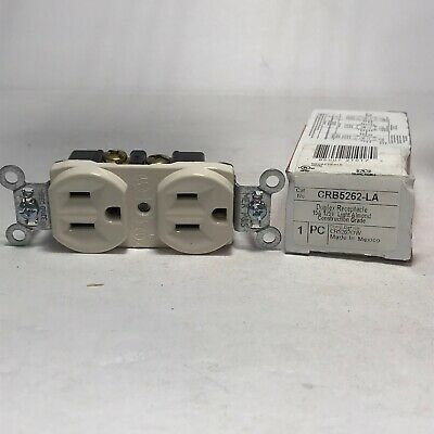 Pass & Seymour Legrand CRB5262  Duplex Receptacle 15A (Lot Of 10) NEW.  A26