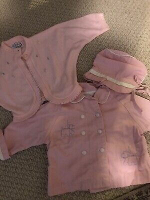 Vintage Childs Coat, Hat And Sweater