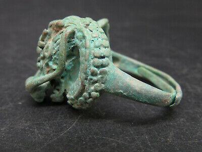 Ancient Bronze Dragon Head Rings Medieval