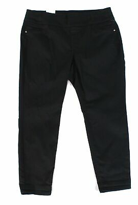 Style & Co. Women's Pants Black 16W Plus Ankle Tummy Control Stretch $56 #285