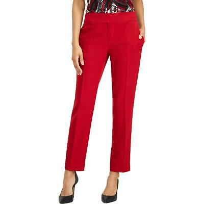 Kasper Womens Red Stretch Crepe Slim Fit Dress Pants Trousers 18 BHFO 3018