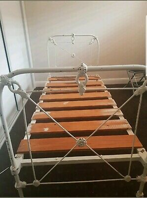 Single Bed Wrought Iron Vintage Antique French