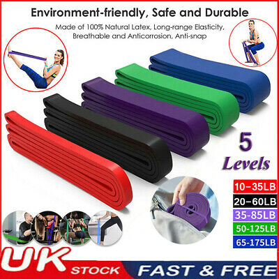 UK Resistance Bands Power Lifting Exercise Band Fitness Gym Pull Up Band Latex