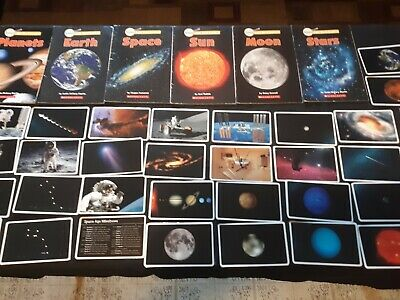 6 science scholastic books and 36 learning cards preowned good condition