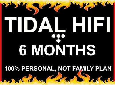 6 Months Tidal Hi-Fi | Masters Quality Account | Instant Delivery