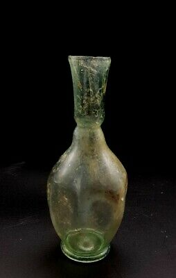 Ancient Roman Ca.300 Ad Clear Glass Vessel -Rare Example