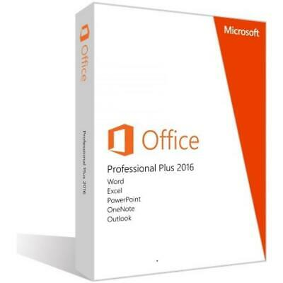 Microsoft Office 2016 Professional Plus 32/64 Bit Codice Originale Licenza Esd