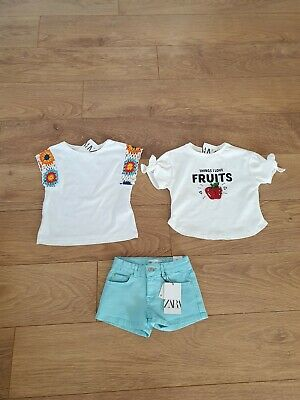 Girls Summer Spring 🌷🌼 Clothes Bundle size 5 Years Shorts Tops All New Zara