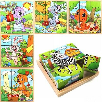 Toys For Kids Toddlers For Learning Educational Toy Cubes Puzzle - Animal Series