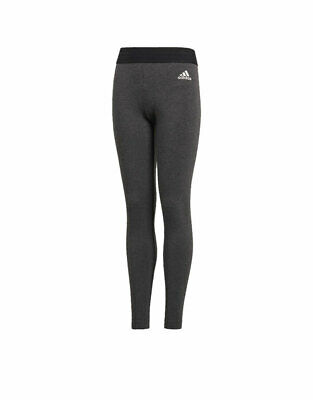 ADIDAS Girls ID Linear Tights Training Running Sports Climalite Cotton DJ1383