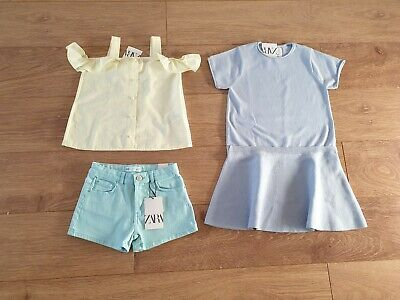 Girls Summer Spring Clothes Bundle size 8 Years Shorts Top Dress All New Zara