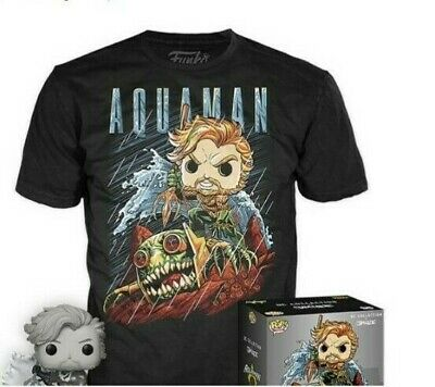 Funko POP! and Tee: Justice League Aquaman by Jim Lee T-Shirt New
