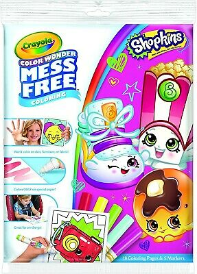 NEW Crayola Shopkins Colour Wonder Mess Free Colouring + Pens FAST DISPATCH