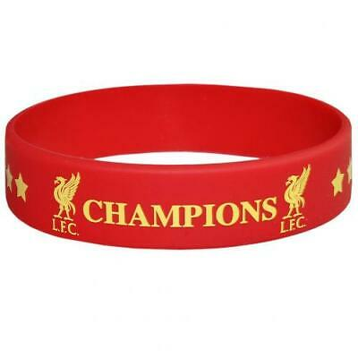 Liverpool Fc Red Champions Of Europe Silicone Wristband