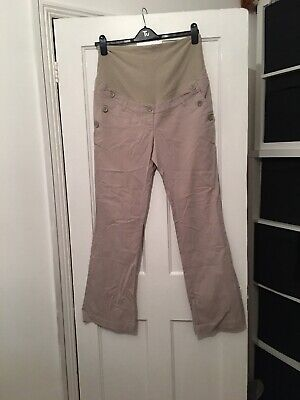 H&M Mama Size L Large Beige Maternity Trousers.  (f2)