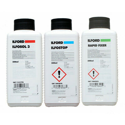 Ilford B&W Film Processing Chemical Kit - (3 pack - to develop your negative)